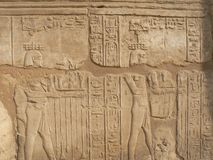 Ancient Egyptian reliefs Stock Photo
