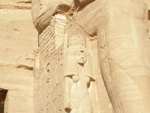 Ancient Egyptian Ruins. Ruins of the temple of Rameses the Great, Egypt Royalty Free Stock Image