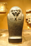 Ancient Egyptian Sarcophagus. Sarcophagus of Horkhebit is an ancient Egyptian sarcophagus dating from 590 b.c. on display at the Metropolitan Museum of Art in Royalty Free Stock Image