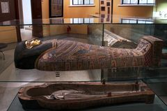 Ancient Egyptian sarcophagus. Royalty Free Stock Images