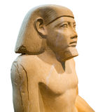 Ancient egyptian sculpture of a man Royalty Free Stock Photos