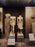 Ancient Egyptian sculpture in Metropolitan museum Royalty Free Stock Image