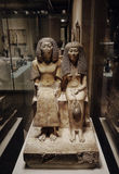 Ancient Egyptian sculptures in Metropolitan museum Royalty Free Stock Photography
