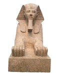 Ancient egyptian sphinx isolated on white Royalty Free Stock Photo