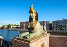 Ancient Egyptian sphinx, St Petersburg, Russia Stock Images