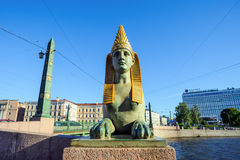 Ancient Egyptian sphinx, St Petersburg, Russia Royalty Free Stock Photo