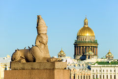 Ancient Egyptian sphinx, St. Petersburg, Russia Stock Photos