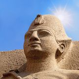 Ancient Egyptian statue Royalty Free Stock Photography