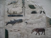 Ancient Egyptian Stone Carvings Royalty Free Stock Images