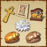 Ancient Egyptian symbols and decorations Royalty Free Stock Photos