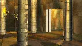 Ancient Egyptian temple interior. Image 2 vector illustration