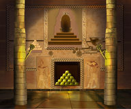 Ancient Egyptian temple interior. Image 3 vector illustration