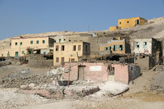 Ancient egyptian village luxor. An ancient Egyptian village in  luxor egypt Royalty Free Stock Photos