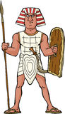 Ancient Egyptian warrior Stock Image