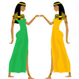 Ancient Egyptian women dancing Stock Photo