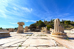Ancient Eleusis. View of the ancient Eleusis. Eleusis was the site of the Eleusinian Mysteries, or the Mysteries of Demeter and Kore Royalty Free Stock Images