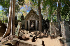 Ancient emple ruins in Koh Ker Royalty Free Stock Photography