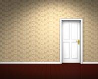 Ancient empty beige room vector illustration