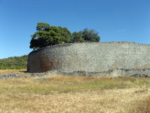 Ancient enclosure. The enclosure at the ancient site of Great Zimbabwe in Masvingo stock images
