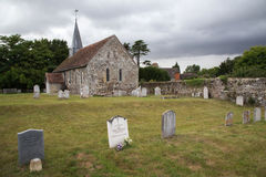 Ancient English church in the countryside Royalty Free Stock Image