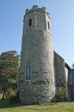 Ancient English Church Tower. Ancient English Circular and Octaganol Flint Church Tower Royalty Free Stock Photo