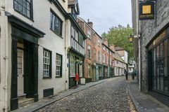 Ancient English Cobbled Street Stock Photo