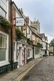 Ancient English Cobbled Street Stock Image