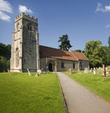 Ancient English country side church Royalty Free Stock Photos