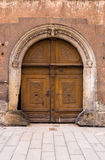 Ancient entrance door Stock Photo
