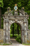Ancient entrance gate of country seat Martenastate Stock Photography