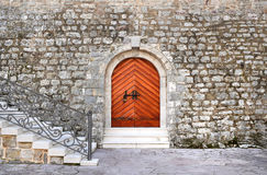 Ancient entrance to the historical building of the citadel in th Royalty Free Stock Photos