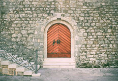 Ancient entrance to the historical building of the citadel in th Royalty Free Stock Images