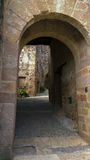 The ancient entrance to the medieval town Royalty Free Stock Photo