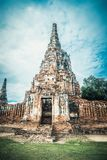 Ancient entrance to the ruins of the old temple in Ayutthaya Stock Photography