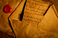Ancient envelopes and letters Royalty Free Stock Photo