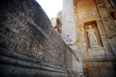 Ancient ephesus celsus library Stock Photos