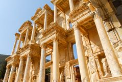 Ancient Ephesus, Turkey. Library of Celsus in the ancient city of Ephesus, Turkey. Ephesus is a UNESCO World Heritage site royalty free stock image