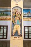Ancient epic hero Karna in Bharat Mandir Stock Images
