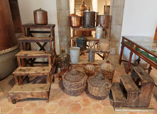 Ancient equipment for the production of perfume in Fragonard fac Royalty Free Stock Photography