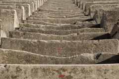 Ancient Eroded Stone Stairs Stock Photography