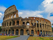 The Ancient Eternal Wonder - Colosseum in Rome, Italy Royalty Free Stock Image