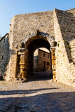 Ancient Etruscan Gate of Volterra Stock Photo