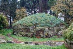 Ancient Etruscan necropolis near Cerveteri Stock Photography