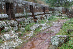 Ancient Etruscan necropolis near Cerveteri Royalty Free Stock Photo