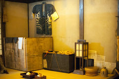 Ancient exhibition at Fukagawa Edo Museum Stock Photos
