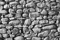 Ancient exposed stone wall Royalty Free Stock Images