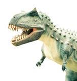 Ancient extinct dinosaur. On a light background stock photos