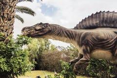Ancient extinct dinosaur spinosaurus Royalty Free Stock Photos