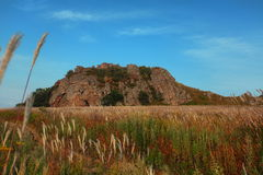 An ancient extinct volcano. In the territory of Primorye, Peninsula Krabbe, Russia Stock Image