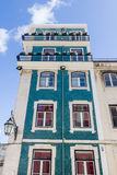 Ancient façades in the centre of Libon Portugal. Royalty Free Stock Image